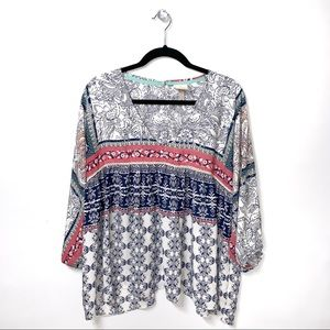 Knox Rose | Printed Boho Style Blouse
